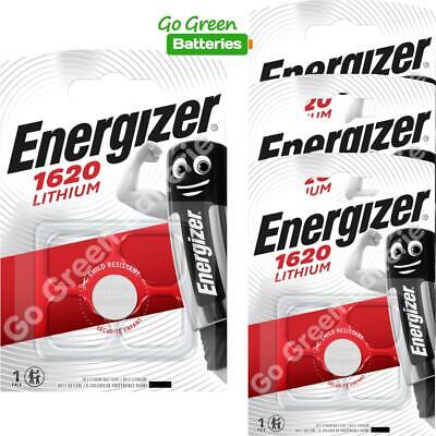 4 x Energizer 1620 CR1620 3V Lithium Coin Cell Battery DL1620 KCR1620, BR1620