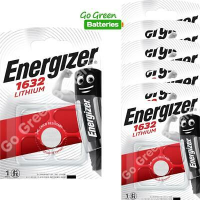 6 x Energizer 1632 CR1632 3V Lithium Coin Cell Battery DL1632 KCR1632, BR1632