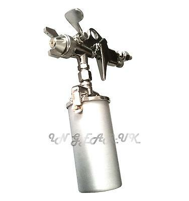 Small touch up spray gun for hobby or Automotive use 250ml air brush FREE P&P