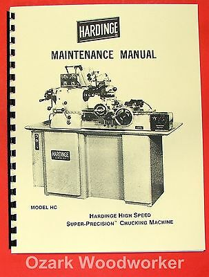 HARDINGE HC Chucking Lathe Maintenance Manual 0338