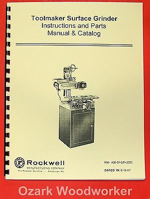 ROCKWELL Surface Grinder Operating/Parts Manual 0619