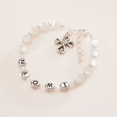 Personalised Bracelet,  Any Name Girls Childs First Holy Communion Jewellery