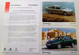 Vauxhall Vectra 1995 Original UK Press Release & Press Photographs