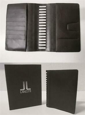Porta Agenda Block Notes Documenti Organizer Lancetti In Pelle-