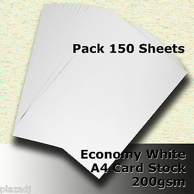 150 Sheets Economy Card Stock WHITE A4 Size 200gsm #H5208