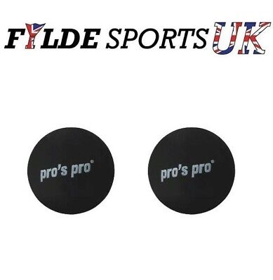2 x Pro's Pro Squash Ball Double Yellow Dot