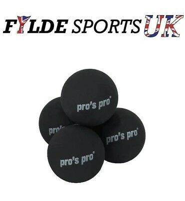 4 x Pro's Pro Squash Ball Double Yellow Dot
