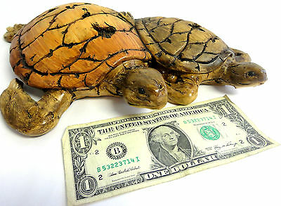 Brand New Tortoises Figurine 12'' long 10.5'' Wide by 5.5'' Long, Cast Resin!!!!