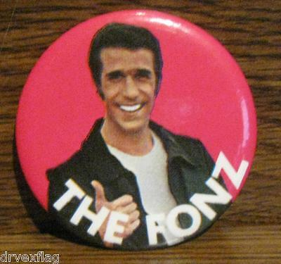 Vintage 1976 THE FONZ Pinback Button RARE
