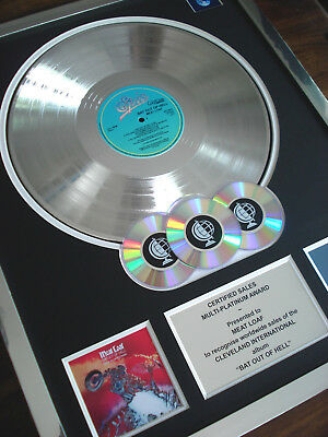 Meat Loaf Bat Out Of Hell Lp Multi Platinum Disc Record Award Album