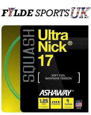 Ashaway UltraNick 17 - Squash String Set 1.25mm Green