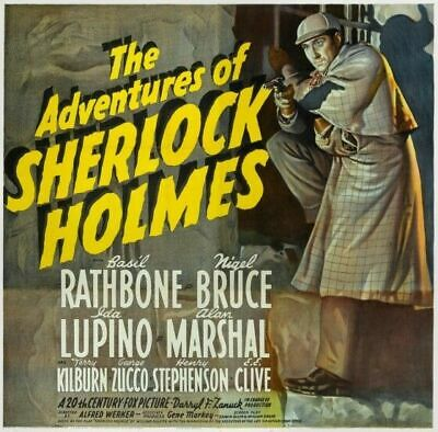 Vintage Old Movie Poster Adventures Of Sherlock Holmes 1939 A4 A3 A2 A1