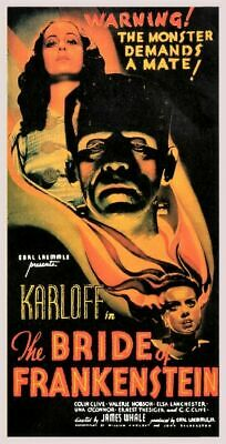 Vintage Old Movie Poster Bride Of Frankenstein 1939 04 Print A4 A3 A2 A1