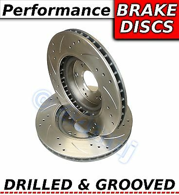 BMW E46 Saloon Coupe Touring Cabrio Drilled & Grooved Sports Rear Brake Discs