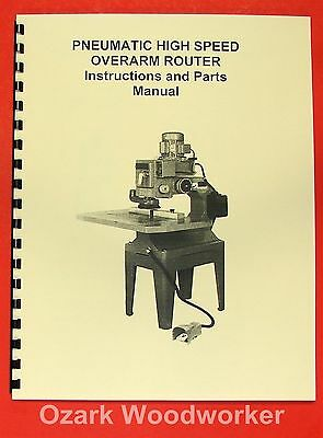 JET/Asian POR-22 Overarm Router Operator's & Parts Manual 0398