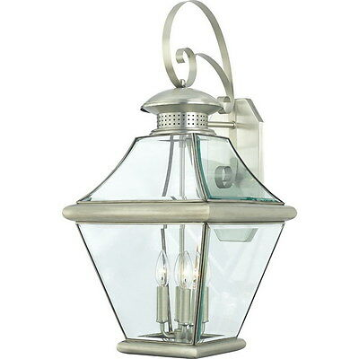 Pewter Solid Brass Exterior Wall 4 Light Fixture X Large