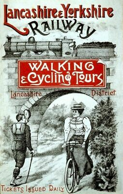 Vintage Old Transport Poster Walking Cycling Tours Print Art A4 A3 A2 A1