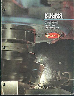 1981 VALENITE Milling Manual & Catalog Cutters End Mills Shanks Tools etc.
