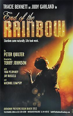 End Of The Rainbow Broadway Window Card - Tracey Bennett