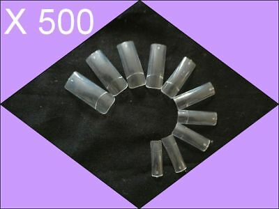 500 Faux Ongles Transparent Capsules Manucure