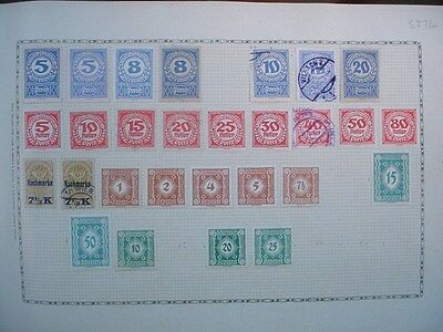 Overprint AUSTRIA Austrian EUROPE STAMPS Page from Old Collection LOT 527L