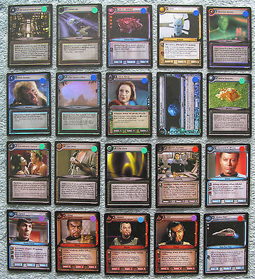 Star Trek CCG 2e Rare & Foil Cards (D Miss, Captain's Log, Genesis, TATV & WYLB)