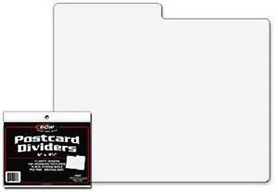 (50) BCW White Postcard Dividers Tabbed Archival Safe For Indexing and Storage