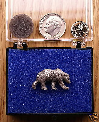 Empire Pewter Grizzly Bear Pin / Tie Tack