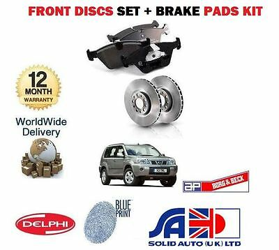 For Nissan X-Trail 2.0 2.2Dt 2.5 2001-2007  New Front Brake Discs Set & Pads Kit