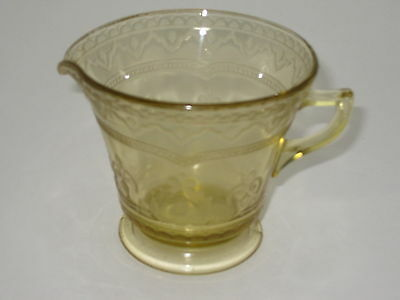 FEDERAL GLASS - Patrician - Amber - Depression - FOOTED CREAMER - 033