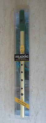 Feadog D Original Brass Tin Penny Whistle Irish Traditional Flute From Ireland