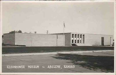 XA489 RPPC Eisenhower Museum Abilene Kansas KS Real Photo PC