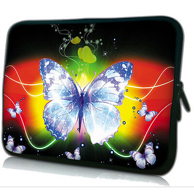 """10"""" Butterfly Laptop Sleeve Bag Case For HP Mini 110 210,ACER Aspire One Netbook"""