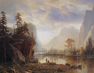 Bierstadt Yosemite Valley - Print Canvas Giclee Art Repro 11X14