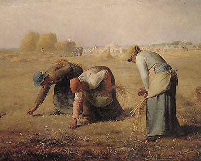 Millet The Gleaners - Print Canvas Giclee Art Repro 8X10