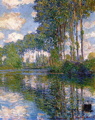 Monet Poplars At The Epte - Print Canvas Giclee Art Repro 8X10