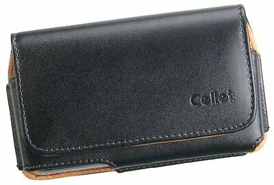 CELLET NOBLE BLACK LEATHER CASE BELT CLIP FOR LG VOYAGER enV VX9900 RUMOR HTC G1