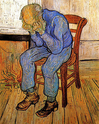 Van Gogh Old Man In Sorrow - Print Canvas Giclee Art Repro 8X10