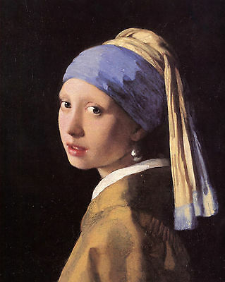 Vermeer The Girl With A Pearl Earring - Print Canvas Giclee Art Repro 8X10