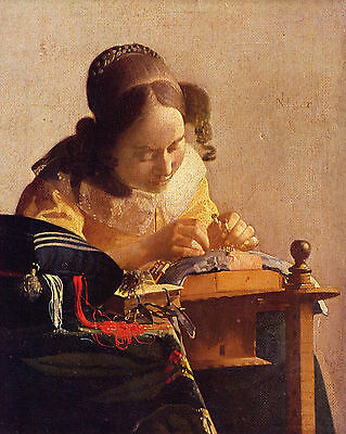 Vermeer The Lacemaker - Print Canvas Giclee Art Repro 8X10
