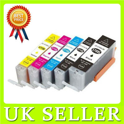 5x PGI570 CLI571 Ink Cartridges for Canon Pixma Set MG5750 MG5751 MG5752 MG5753