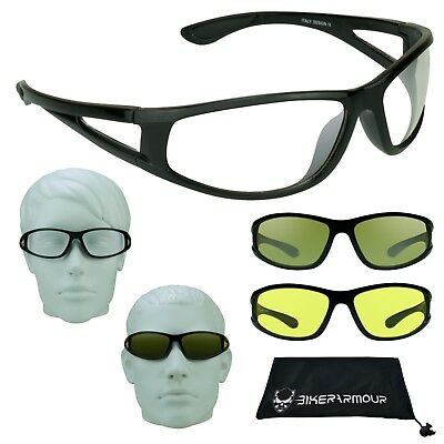 HD NIGHT VISION Glasses YELLOW CLEAR Lens Driving Motorcyle Cycling Shooting