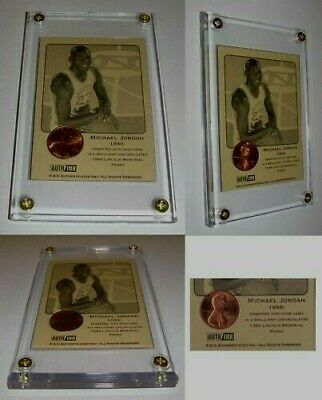Michael Jordan 1983 Vintage Rare Basketball card Authentic coin