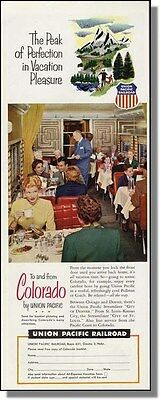 1953 Colorado Vacation - Union Pacific Railroad Ad
