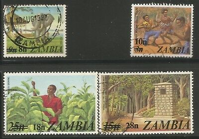ZAMBIA 1979 SURCHARGES Sc#188/91 COMPLETE MNH SET 1512