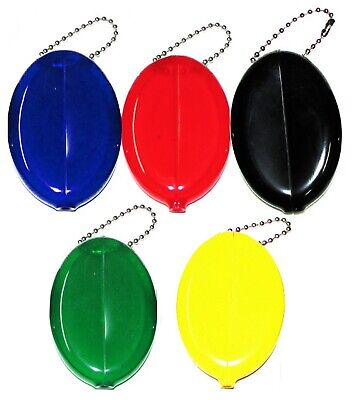 USA Made Oval Squeeze Coin Purse 5 unit pack | Great Travel Accessory