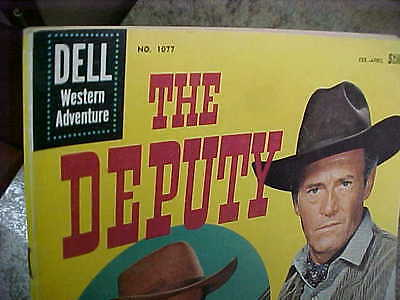 Vintage Dell The Deputy no. 1077 1960 comic book western 10 cent books