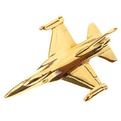 F117 Stealth Fighter Tie Pin Gold Plated Tiepin