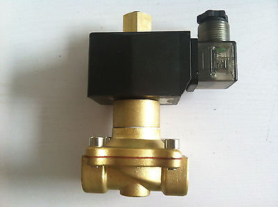 "Brass Normal Open  220V AC 1/2"" Electric Solenoid Valve Water Air N/O"