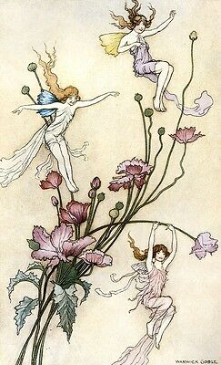 Book Of Fairy Poetry IV Warwick Goble 1920 Art Print A4 A3 A2 A1